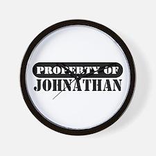 Property of Johnathan Wall Clock