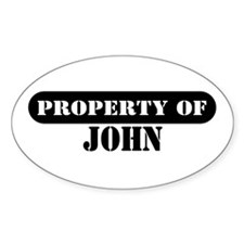 Property of John Oval Decal