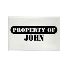 Property of John Rectangle Magnet