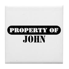 Property of John Tile Coaster