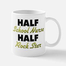 Half School Nurse Half Rock Star Mugs