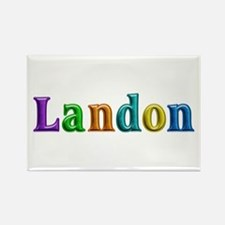 Landon Shiny Colors Rectangle Magnet