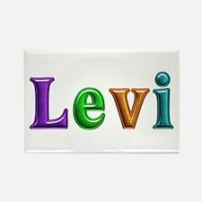 Levi Shiny Colors Rectangle Magnet
