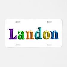 Landon Shiny Colors Aluminum License Plate