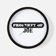 Property of Joe Wall Clock