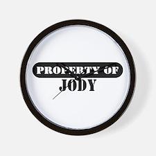 Property of Jody Wall Clock