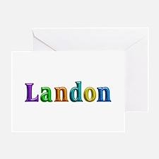 Landon Shiny Colors Greeting Card