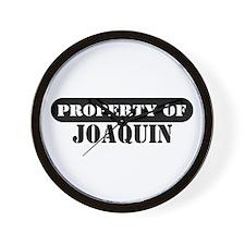 Property of Joaquin Wall Clock