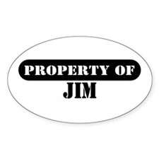 Property of Jim Oval Decal
