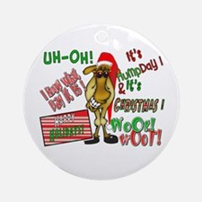Funny Christmas Hump Day Camel Ornament (Round)