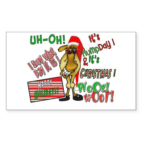 Funny Christmas Hump Day Camel Sticker (Rectangle)