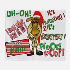 Funny Christmas Hump Day Camel Throw Blanket