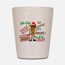 Funny Christmas Hump Day Camel Shot Glass