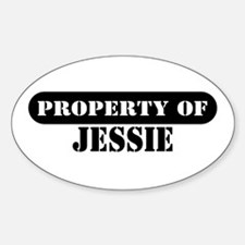 Property of Jessie Oval Decal