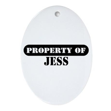 Property of Jess Oval Ornament