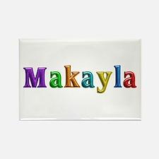 Makayla Shiny Colors Rectangle Magnet
