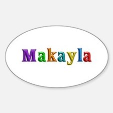 Makayla Shiny Colors Oval Decal