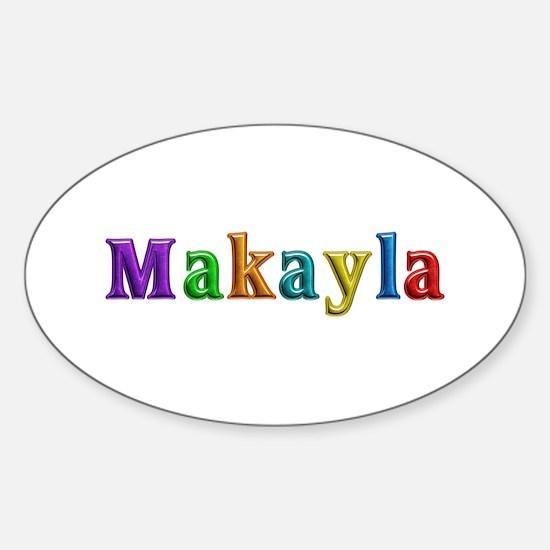 Makayla Shiny Colors Oval Decal