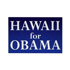 Hawaii for Obama Rectangle Magnet