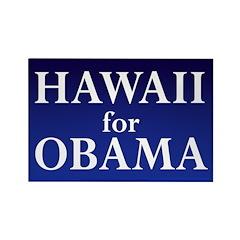 Hawaii for Obama Rectangle Magnet
