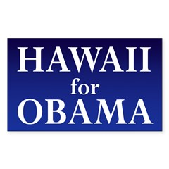 Hawaii for Obama Rectangle Decal