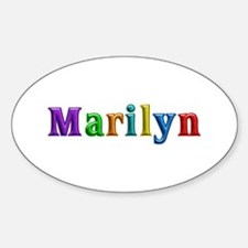 Marilyn Shiny Colors Oval Decal