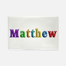 Matthew Shiny Colors Rectangle Magnet