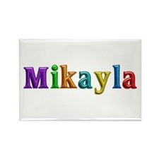Mikayla Shiny Colors Rectangle Magnet