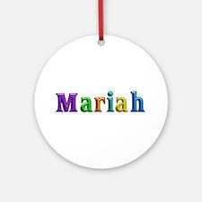 Mariah Shiny Colors Round Ornament
