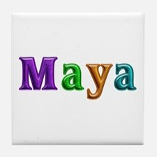 Maya Shiny Colors Tile Coaster