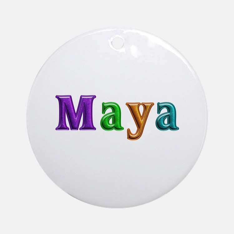 Maya Shiny Colors Round Ornament