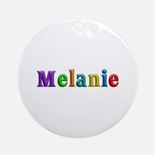 Melanie Shiny Colors Round Ornament