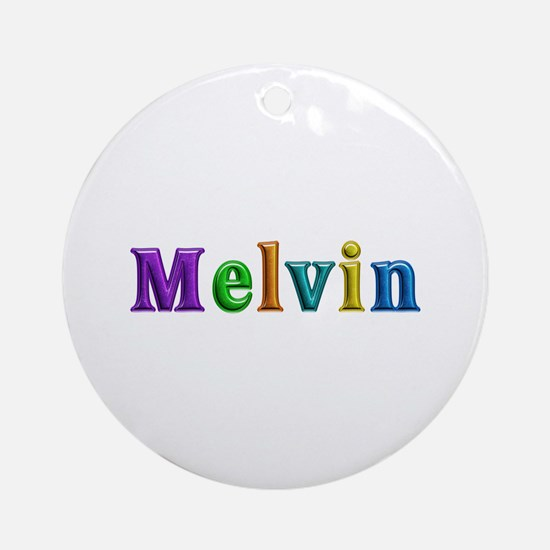 Melvin Shiny Colors Round Ornament