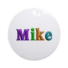 Mike Shiny Colors Round Ornament