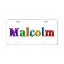 Malcolm Shiny Colors Aluminum License Plate