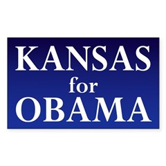 Kansas for Obama Bumper Decal
