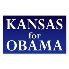 Kansas for Obama Bumper Decal