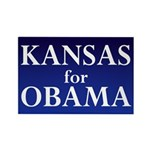 Kansas for Obama Rectangle Magnet