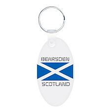 Bearsden Scotland Aluminum Oval Keychain
