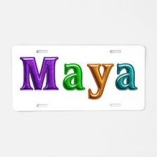 Maya Shiny Colors Aluminum License Plate