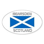 Bearsden Scotland Sticker (Oval 50 pk)
