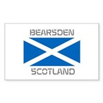 Bearsden Scotland Sticker (Rectangle 10 pk)