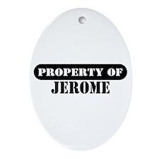 Property of Jerome Oval Ornament