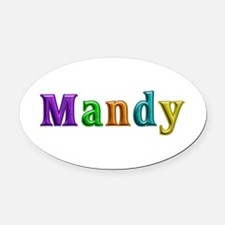 Mandy Shiny Colors Oval Car Magnet