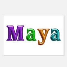 Maya Shiny Colors Postcards 8 Pack