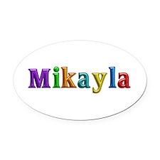 Mikayla Shiny Colors Oval Car Magnet