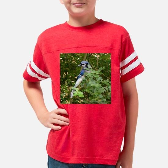 Blue Jay in Bush Youth Football Shirt
