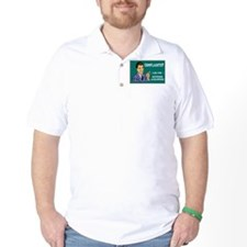 Heywood with chalboard backgr T-Shirt