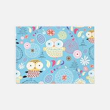 Cute Owls 5'x7'Area Rug
