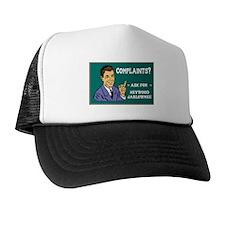 Heywood with chalboard backgr Trucker Hat